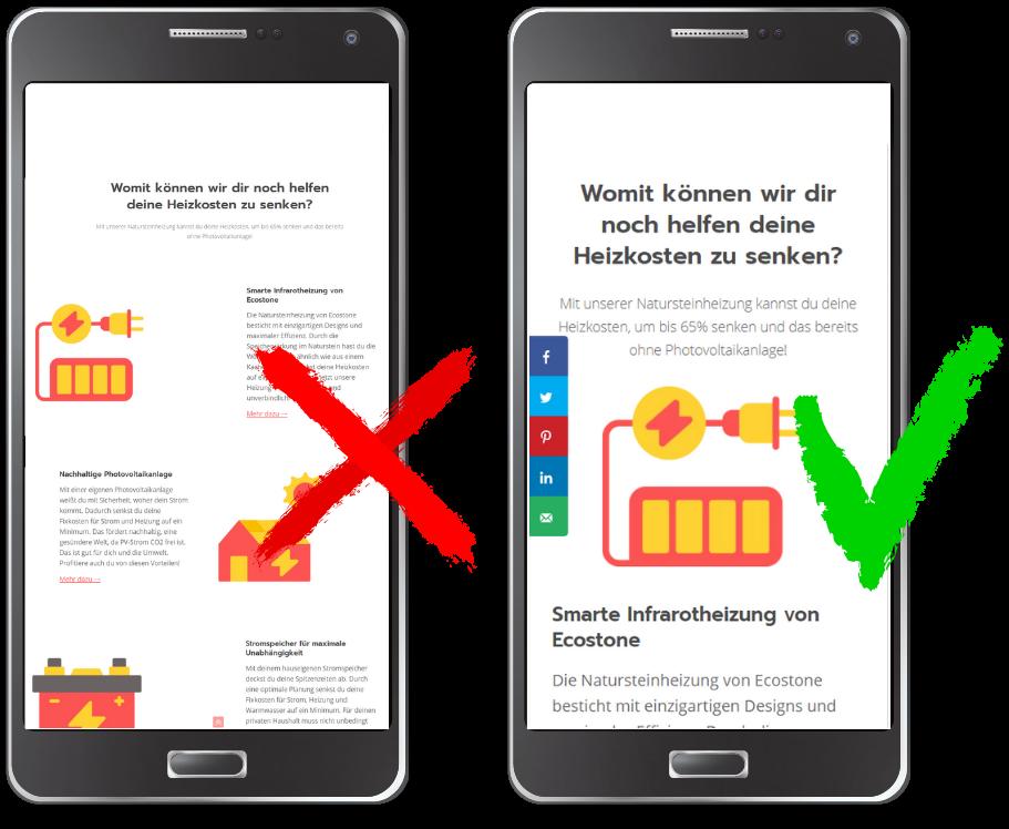 Optimierte Mobile Webseite - Agentur für Webdesign - Digitanos Bad Ischl