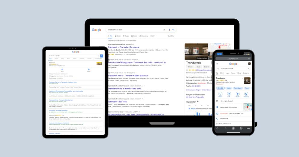 Google My Business für KMUs - Online-Marketing-Agentur - Digitanos Bad Ischl