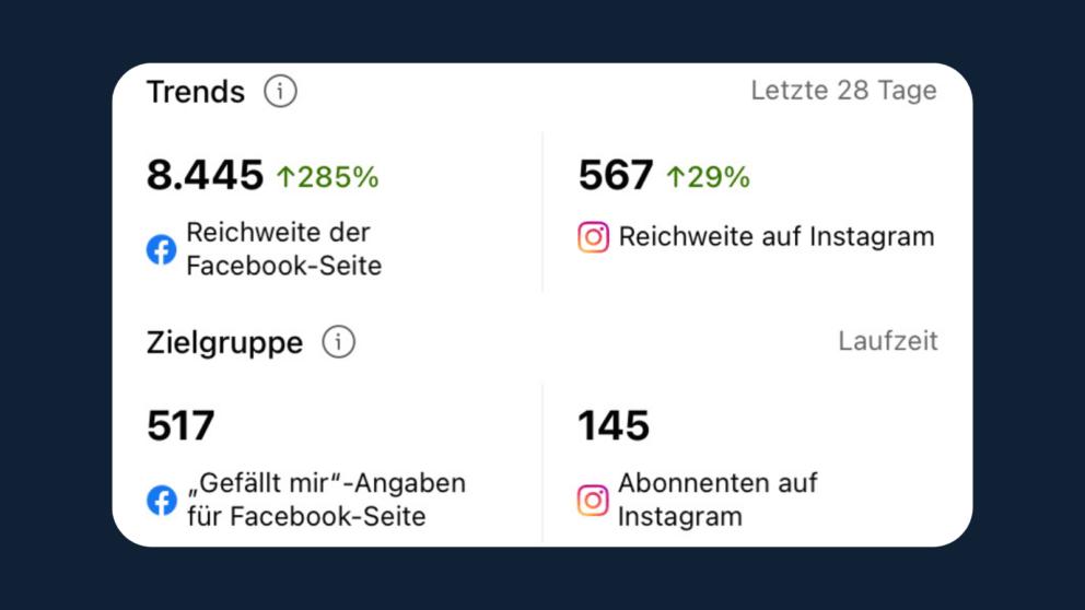 Report Instagram + Facebook Account Management